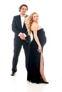 Pregnant fashion woman and husband in gangsta style Royalty Free Stock Photo