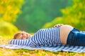 Pregnant girl. Royalty Free Stock Photo