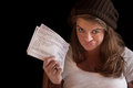 Pregnant Lady On Welfare Royalty Free Stock Photo