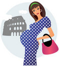 Pregnant in Rome Stock Images