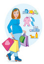 Pregnant shopping Royalty Free Stock Photo