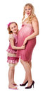 Pregnant woman and daughter Stock Image