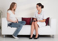 Pregnant woman and doctor. Royalty Free Stock Photography