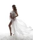 Pregnant Woman Dress, Pregnancy Maternity Concept, Beautiful Wav Royalty Free Stock Photo