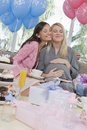Pregnant Woman And Friend At Baby Shower Stock Image
