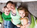 Pregnant woman with her children Royalty Free Stock Images