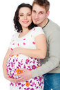 Pregnant woman with her husband Royalty Free Stock Photo