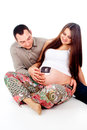 Pregnant woman and her husband photo Stock Images