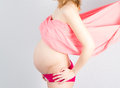 Pregnant Woman holding her hand Royalty Free Stock Photo