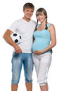 Pregnant woman with husband Stock Photo