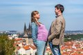 Pregnant Woman And A Man Compa...
