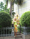 A pregnant woman near the altar in the park bangkok thailand Stock Photos