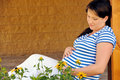 Pregnant woman relaxing Royalty Free Stock Image