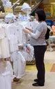 Pregnant woman shopping Royalty Free Stock Photo