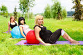 Pregnant  women relaxing Royalty Free Stock Photos