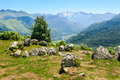Prehistoric cromlech in the french pyrenees Royalty Free Stock Photos