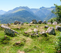 Prehistoric cromlech in the french pyrenees Royalty Free Stock Image