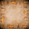 Prehistoric painting  background Royalty Free Stock Photos