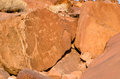 Prehistoric rock engravings at Twyfelfontein Stock Images