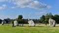 Prehistoric Standing Stones Royalty Free Stock Photo