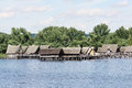 Prehistory lake dwellings on the lake of constanc unteruhldingen constance germany Stock Image