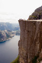 Preikestolen, norge Royalty Free Stock Photos