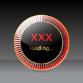 Preloader design for xxx websites glossy red gold Stock Image