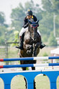 Premier Cup Equestrian Show Jumping Stock Photo