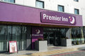 The premier inn hotel located near terminal heathrow airport london this image could be used for a number of articles relating to Royalty Free Stock Image