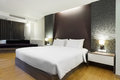 Premier room luxury modern hotel bangkok thailand Royalty Free Stock Photography