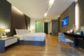 Premier room luxury modern in hotel with facilities bangkok thailand Stock Photography