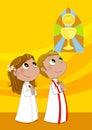 Première communion Photo stock