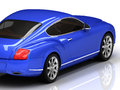 Premium blue car is on a white reflective surface Royalty Free Stock Photo