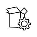 Premium box icon or logo in line style.