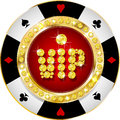 Premium casino vip banner glossy for web sites Royalty Free Stock Photography