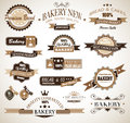Premium collection of Bakery themed vintage style Royalty Free Stock Images