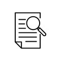 Premium document icon or logo in line style.