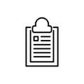 Premium document icon or logo in line style.