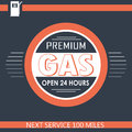 Premium gas service illustration of a filling in hours Stock Image