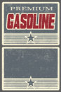 Premium gasoline poster for filling stations vintage and a free space space your design Stock Photography