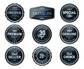 Premium glossy labels set fresh and clear Royalty Free Stock Photo