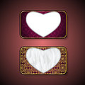 Premium heart Luxury cards,Retro Backgrounds.polygon.