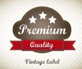 Premium label Stock Image