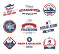 Premium labels hight quality design elements retro vintage style design vector stamp backgrounds Royalty Free Stock Image