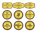 Premium labels set simple and clear Royalty Free Stock Photo
