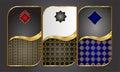 Premium Luxury cards,Retro Background.