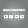 Premium media video player button controller icon set vector illustration Royalty Free Stock Image
