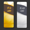 Premium membership club card collection for vip partners vector illustration Stock Photo