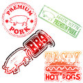 Premium Pork Stamp Stock Photo