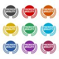Premium Quality Badge Design Concept, color set Royalty Free Stock Photo